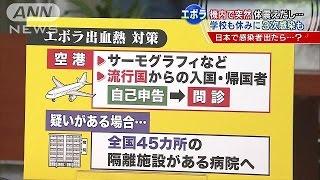 機内で突然体震え・・・エボラ熱、日本で感染者出たら?日本での対策を解説!(ニュース)