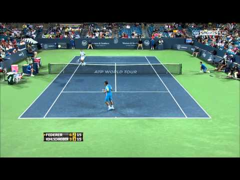 Roger Federer vs Philipp Kohlschreiber 2013 Cincinnati Round 2 Highlights