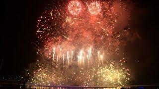 Singapore Marina Bay 2014 New Year Countdown Fireworks [2 video cams]