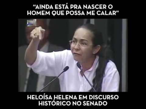 Heloísa Helena cala o plenário do senado