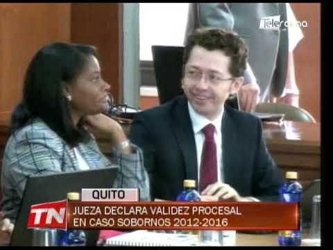 Jueza declara validez procesal en caso sobornos 2012-2016