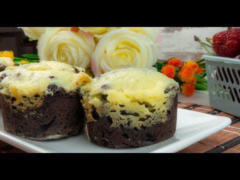 Brioșe brownie cu cremă de brânză - un desert atât pentru pici cât și pentru cei mari!