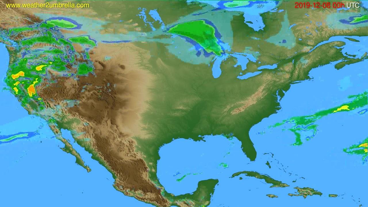Radar forecast USA & Canada // modelrun: 12h UTC 2019-12-07