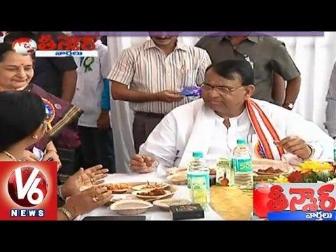 Agriculture Minister Pocharan Srinivas inaugurated Telangana Millet fest 2015  Teenmaar News