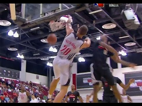Donatas Motiejunas slam off the Isaiah Canaan pass