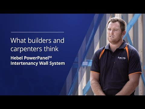 What builders & carpenters think - Hebel PowerPanel50 low rise multi-res intertenancy wall