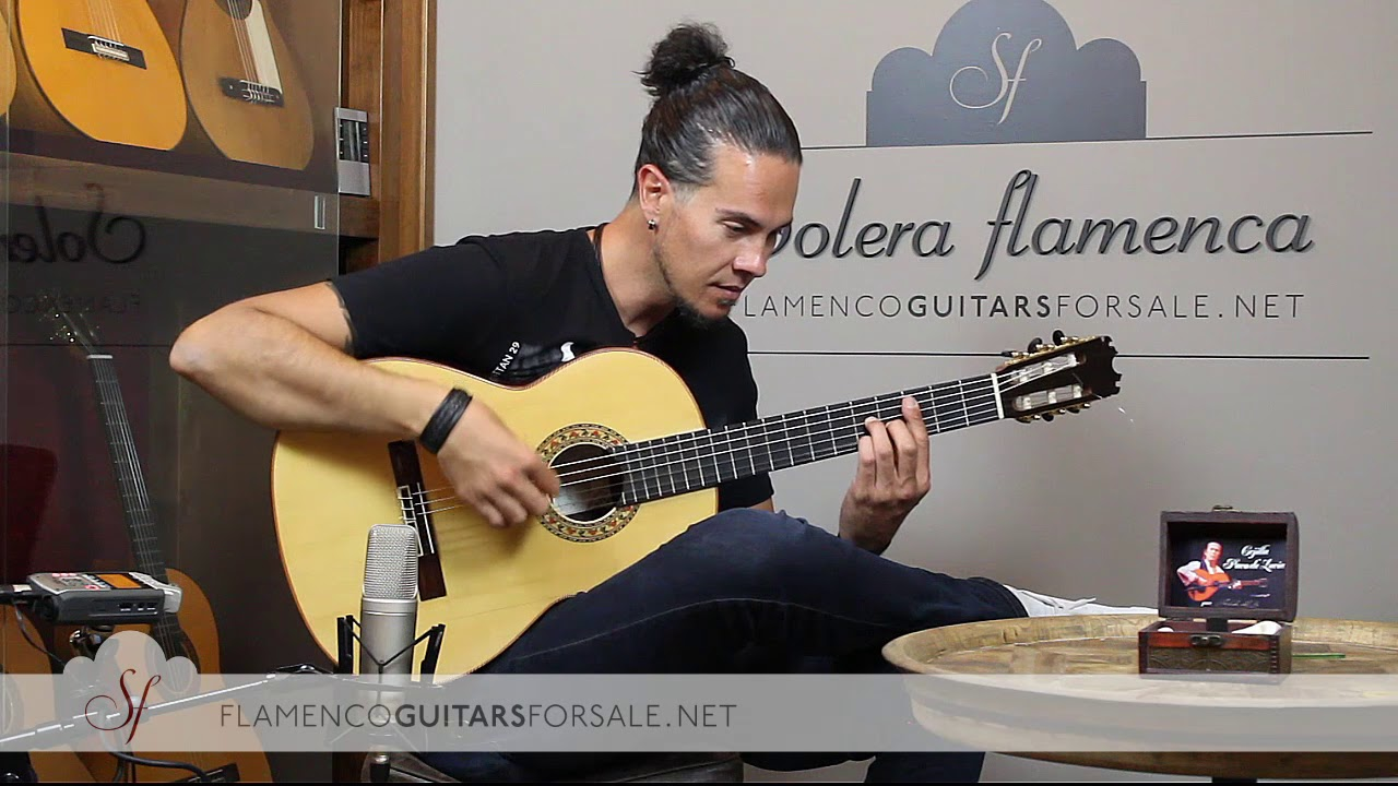 Peña Vargas Mod. Malagueña 2017 flamenco guitar for sale played by Alberto Fernández