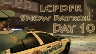 GTA IV -- LCPDFR: Snow Patrol -- Day 10