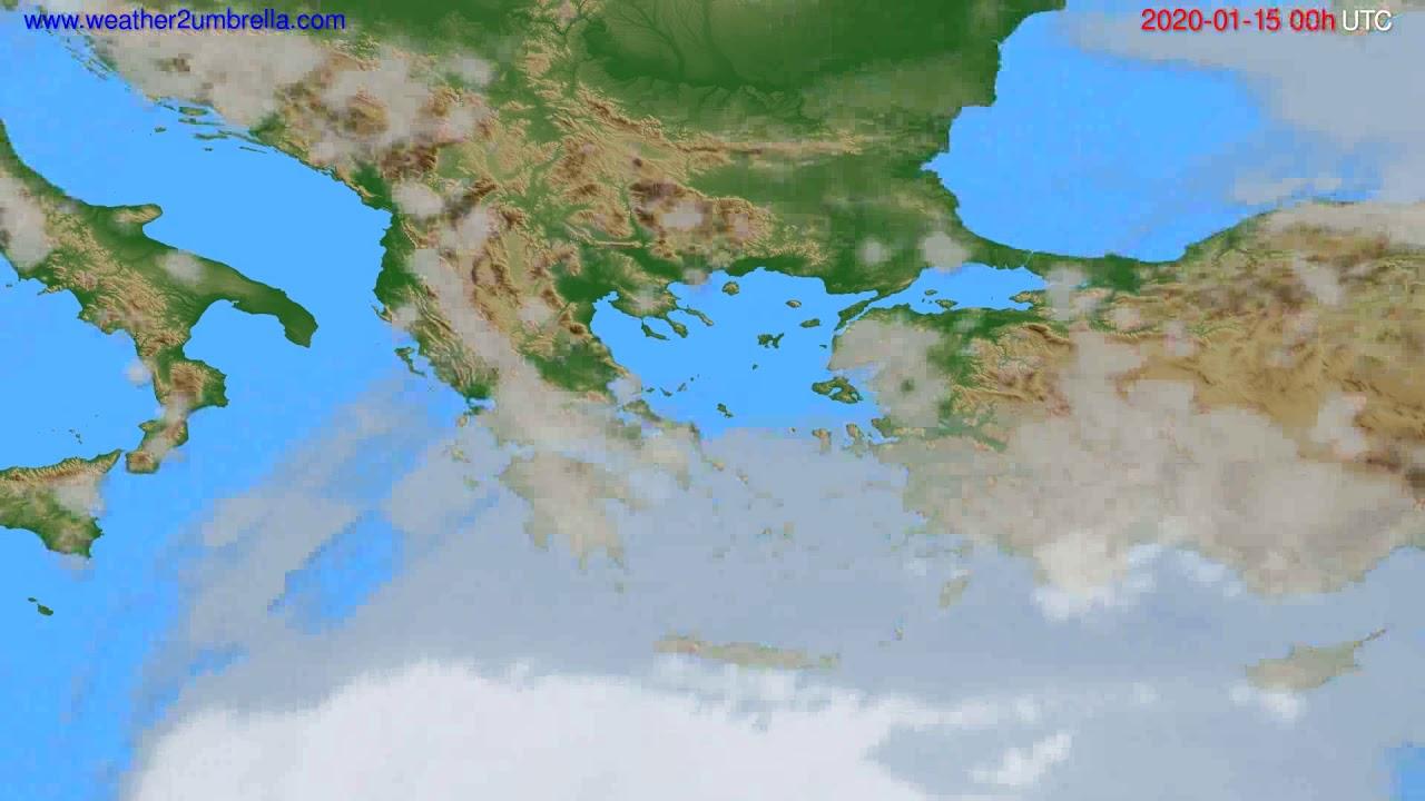 Cloud forecast Greece // modelrun: 00h UTC 2020-01-14