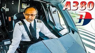 Video Great View of AIRBUS A380 Captain during takeoff! MP3, 3GP, MP4, WEBM, AVI, FLV Desember 2018