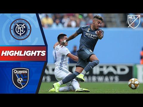 Video: NYCFC vs. San Jose Earthquakes | A First MLS Goal! | HIGHLIGHTS