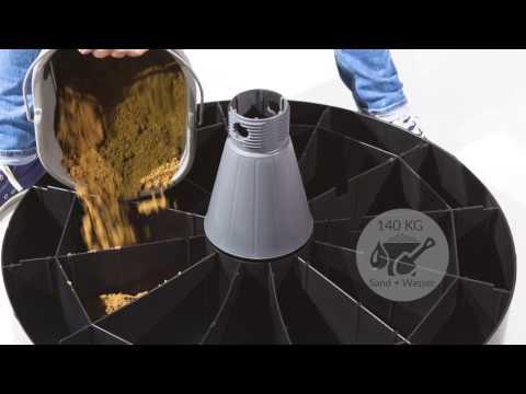 Sun Garden - Schirmständer, Bodenständer für den Easy Sun Ampelschirm