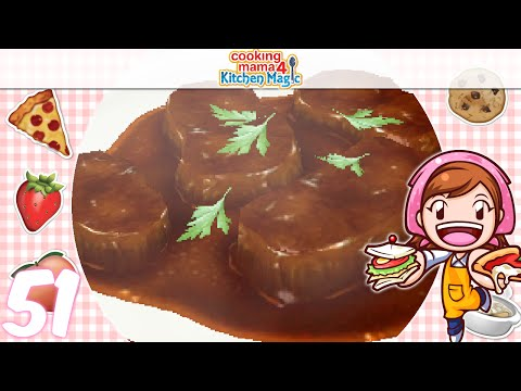 [Let's Play] Cooking Mama 4 Kitchen Magic - EP51: Beef Bourguignon (☆▽☆)