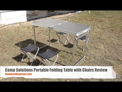 Camp Solutions Portable Folding Table with Chairs Review