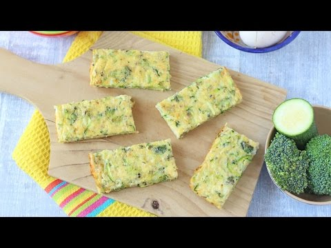 Broccoli & Courgette Frittata Fingers | Baby Weaning & Toddler Recipe