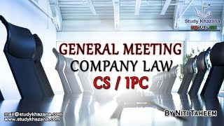 Company law is the field of law concerning companies and other business organizations. This includes corporations, partnerships, and other associations which usually carry on some form of economic or charitable activity. In this Course, you will learn the following:1) Introduction 2) Incorporation and Its Consequences 3) Financial Structure4) Membership in a Company5) Management and Controls of a Company6) Investment, Loans and Deposites7) Accounts and audits8) Dividends9) Register, Forms and Returns10) Inventions and Investigations11) Majority Rules and Minoirty Rules12) Merger, Demerger and amalgamation13) Producer Comapny14) Limited Liabilities Partnership15) Applications of Company Laws to different sectors16) Offences and Penalities17) Compounding of offences18) Winding up of companies19) Striking of name of company20) An introduction to e-governance and XBRL** Stay Connected with Us **https://www.facebook.com/studykhazanahttps://twitter.com/studykhazanaahttps://www.instagram.com/study_khazana/Full Course and Lecture Videos now available on (Study Khazana) login at http://studykhazana.com/Contact Us : +91 8527697924Mail Us : mail@studykhazana.com