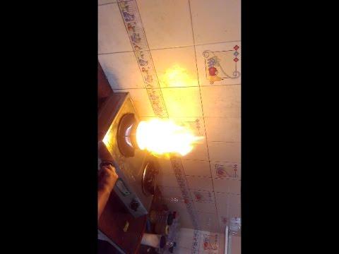 hot refine oil and cold water explosion....