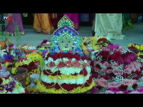 Miss Asia Trisha Guduru At NRI Bhatukamma Celebrations | Pennsylvania : TV5 News