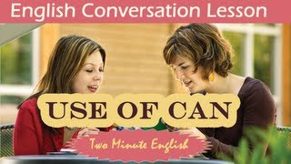 Use of Can, Learn English Grammar Online