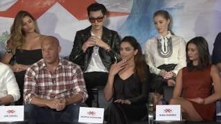 XXx Return Of Xander Cage LA PRESS CONFERENCE  Vin Diesel Nina Dobrev Deepika Padukone