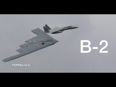 Неожиданный визит Б-2 на авиашоу