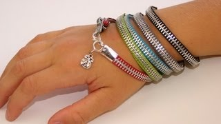 DIY: Zipper Bracelet | Back-to-School Fashion Ideas - YouTube