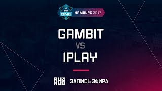 Gambit vs Iplay, ESL One Hamburg 2017, game 1 [v1lat, GodHunt]