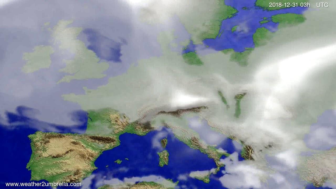 Cloud forecast Europe 2018-12-28