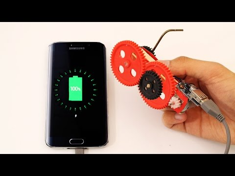 How To Make A Simple Hand-Crank Phone Charger
