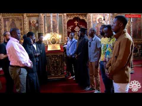 African Orthodox Pilgrims Chant Agni Parthene
