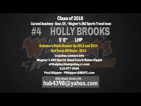 Holly Brooks 2014 Softball Skills (видео)
