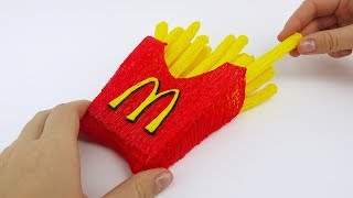 McDonalds French Fries DIY With 3D Pen| 3D Pen Creations French Fries