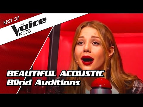 Top 10 | Amazing Acoustic Blind Auditions In The Voice Kids