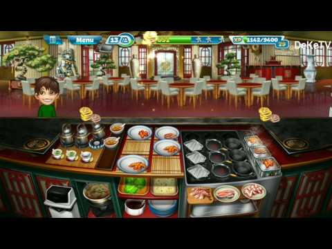 Cooking Fever Level 34 Chinese Restaurant Fully Interior, Kitchen Upgraded