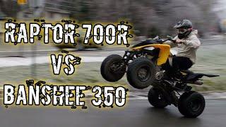3. Yamaha Banshee 350 vs. Yamaha Raptor 700R
