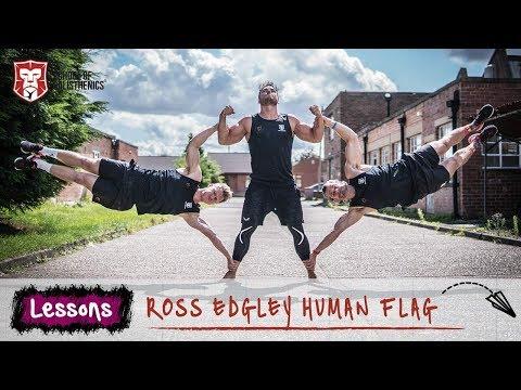 45 minute Human Flag - Ross Edgley | School of Calisthenics (видео)