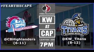Cape Breton Highlanders VS KW Titans - Feb. 25,2017