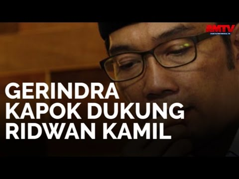 Gerindra Kapok Dukung Ridwan Kamil