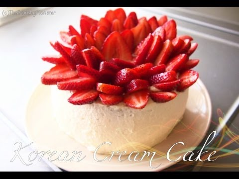 How to Make a Korean Saeng Cream Birthday Cake 생크림 케이크 Recipe