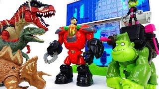 Video Teen Titans Go, Robin Beast Boy~! Dinosaurs in the Teen Titans Headquarter - ToyMart TV MP3, 3GP, MP4, WEBM, AVI, FLV Desember 2017
