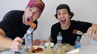 Video EPIC ATOMIC WING MUKBANG FT DAVID DOBRIK, SCOTTY SIRE AND TODDY SMITH MP3, 3GP, MP4, WEBM, AVI, FLV Maret 2019