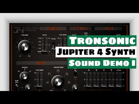 SYNTH MAGIC/ TRONSONIC Jupiter 4 Synthesizer Sound Demo I | SYNTH ANATOMY