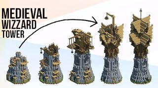 Minecraft: HUGE Medieval Fantasy Wizard Tower!