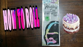 How to roll Kong wraps with cbd by BigMike 420 Lifestyle
