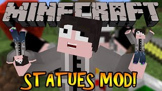 Minecraft Mod Review: STATUES MOD! - CREATE STATUES FROM DIFFERENT BLOCKS!!