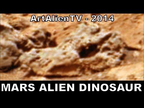 "Mars Alien Dinosaur & Lizard Skulls: NASA Curiosity ""Shaler Outcrop"". ArtAlienTV – MARS ZOO 720p"