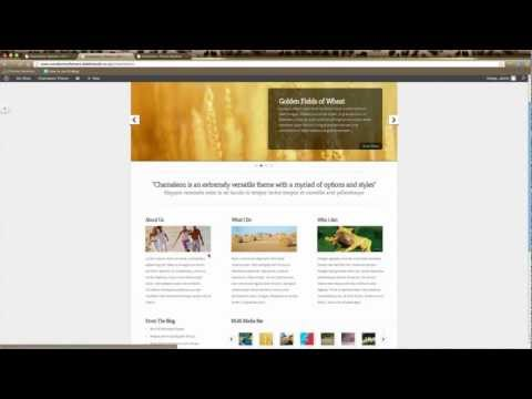 WordPress Tutorial – Elegant Themes – Chameleon Home Page Setup