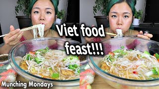 PHO MUKBANG *so satisfying* VEGAN VIETNAMESE FOOD FEAST // Munching Mondays Ep.17