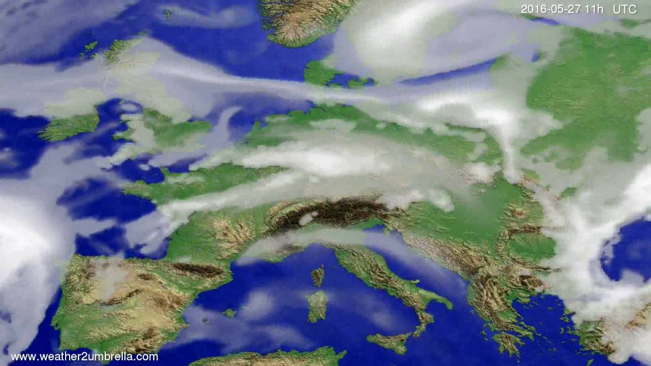 Cloud forecast Europe 2016-05-24