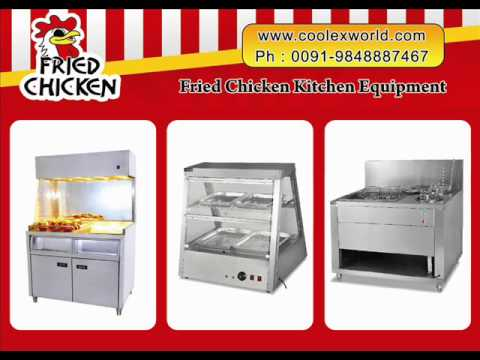 Equipment cost for fried chicken restaurant can be known